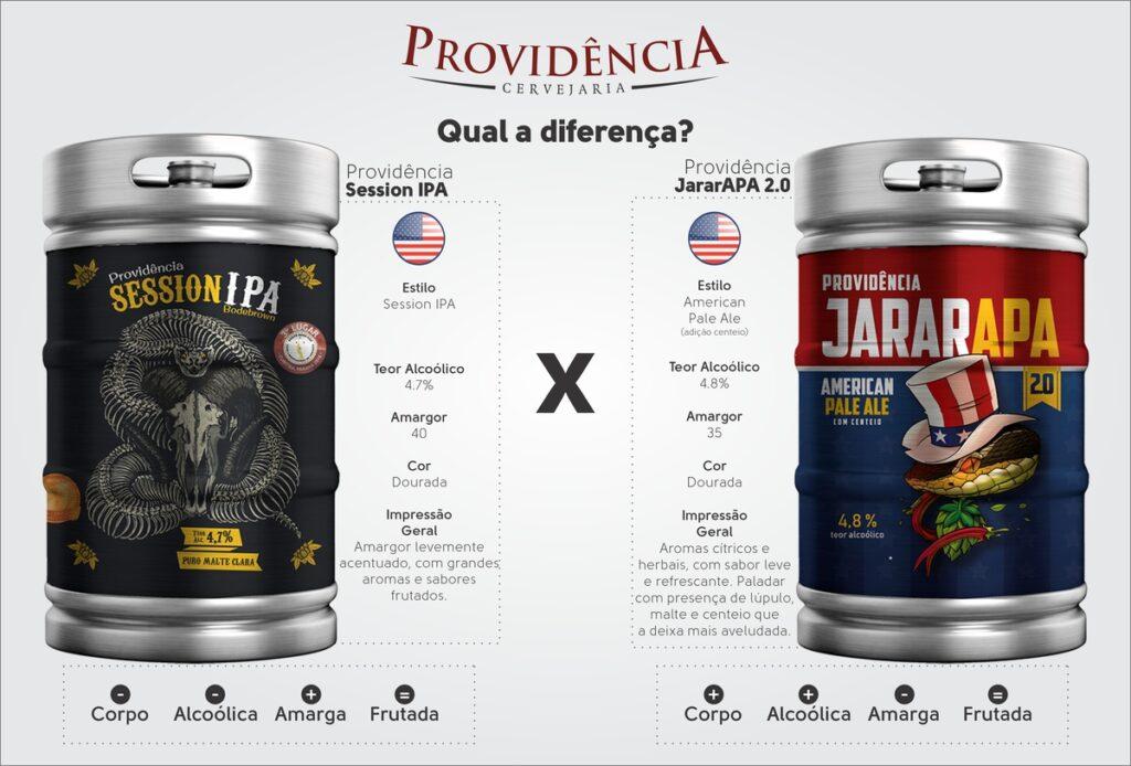 Entenda a diferença entre a cerveja Session IPA e a Jararapa 2.0 da Providência 3